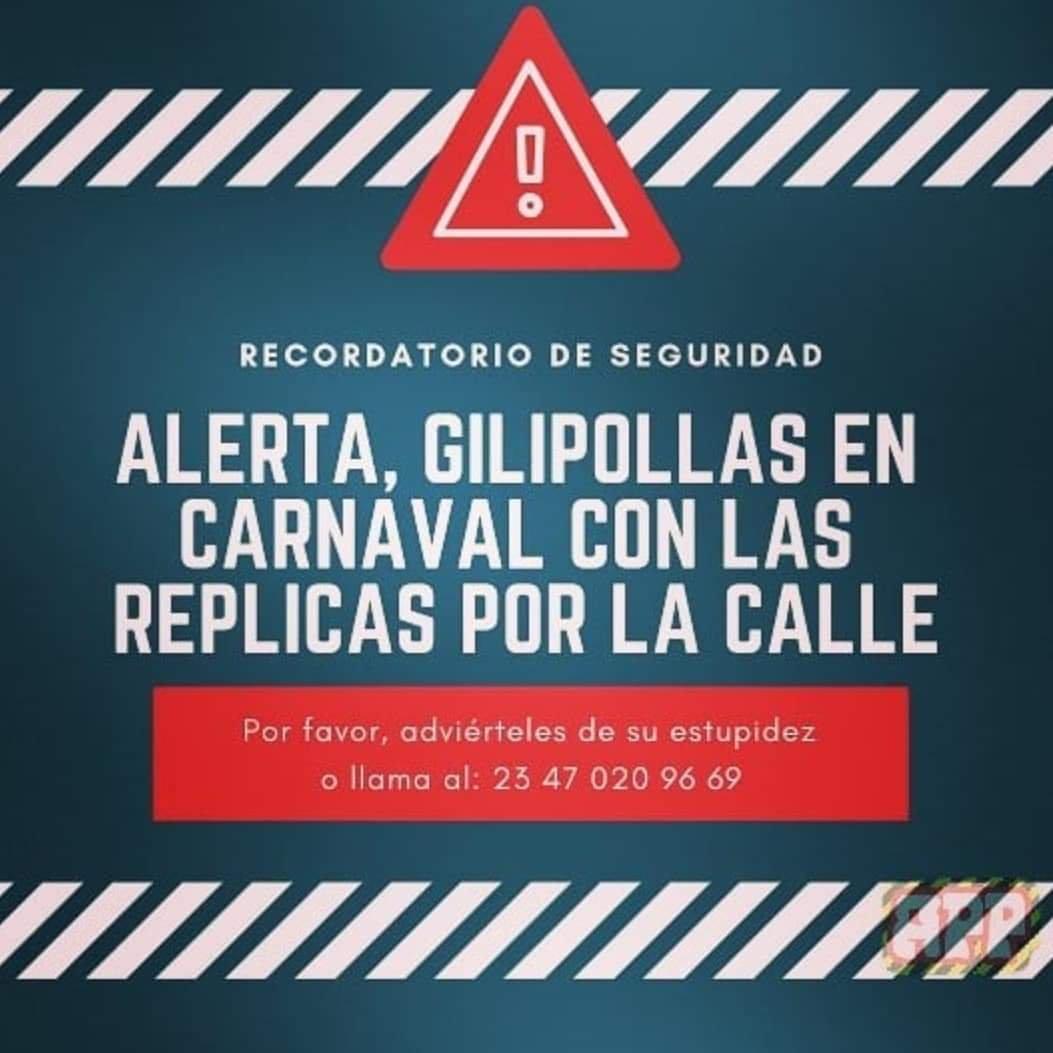 En carnaval deja tus réplicas en casa Apredizaje