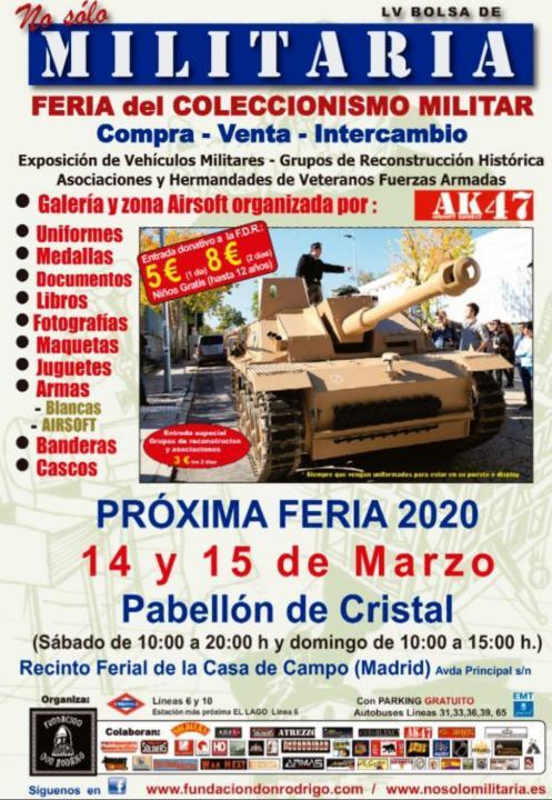 No Sólo Militaria vuelve el 14 y 15 de marzo de 2020 Ferias