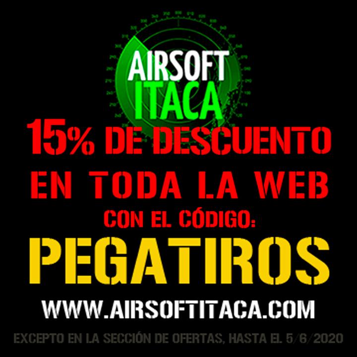 ¡Llegan las rebajas a Airsoft Ítaca para los amigos de Pegatiros.com! Tiendas