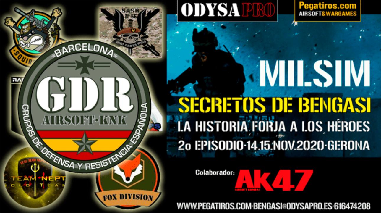 ODYSA damos la bienvenida a G.D.R. Airsoft en Secretos de Bengasi Bengasi Milsim