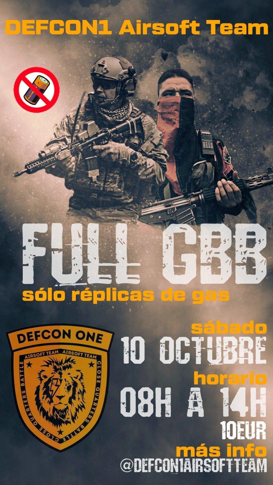 DEFCON ONE: FULL GBB, evento sólo para réplicas de gas Eventos