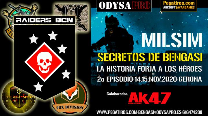 ODYSA damos la bienvenida a MARINES RAIDERS BCN en Secretos de Bengasi Bengasi Milsim