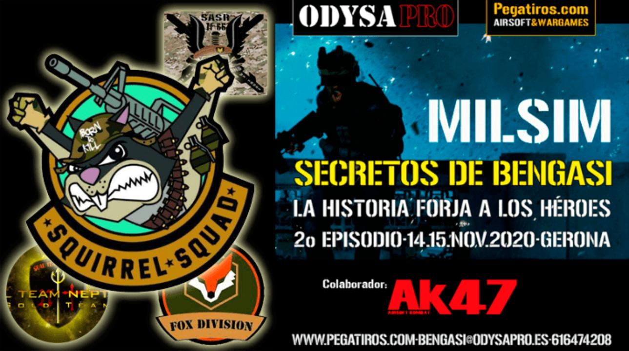 ODYSA damos la bienvenida a SQUIRRELS SQUAD en Secretos de Bengasi Bengasi Milsim