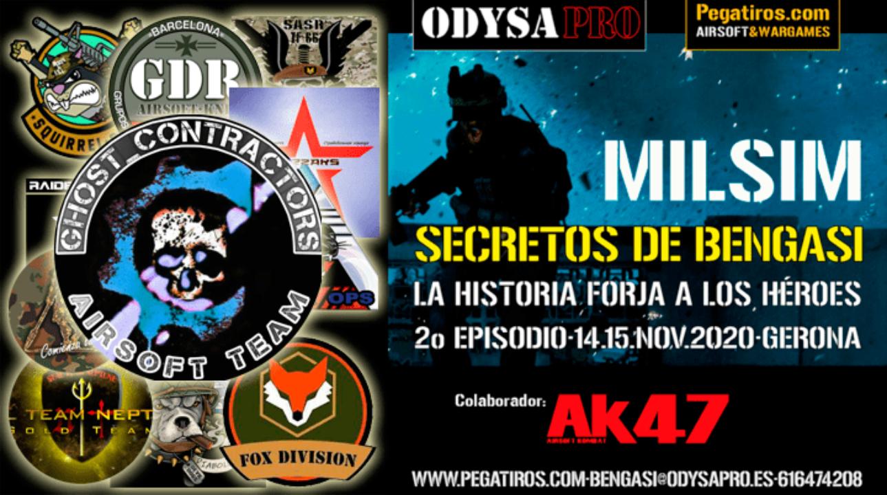 ODYSA damos la bienvenida a GHOST CONTRACTORS en Secretos de Bengasi MILSIM Bengasi Milsim